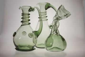 Karafy, lahvice - Lesní sklo