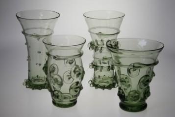 Číše na vodu, pivo a destiláty - Lesní sklo