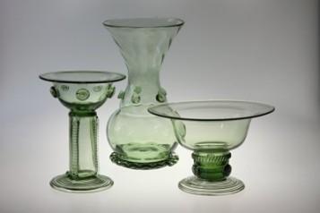 Misky, svícny, vázy - Lesní sklo