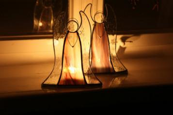 Svícen na čajovou svíčku - Lesní sklo