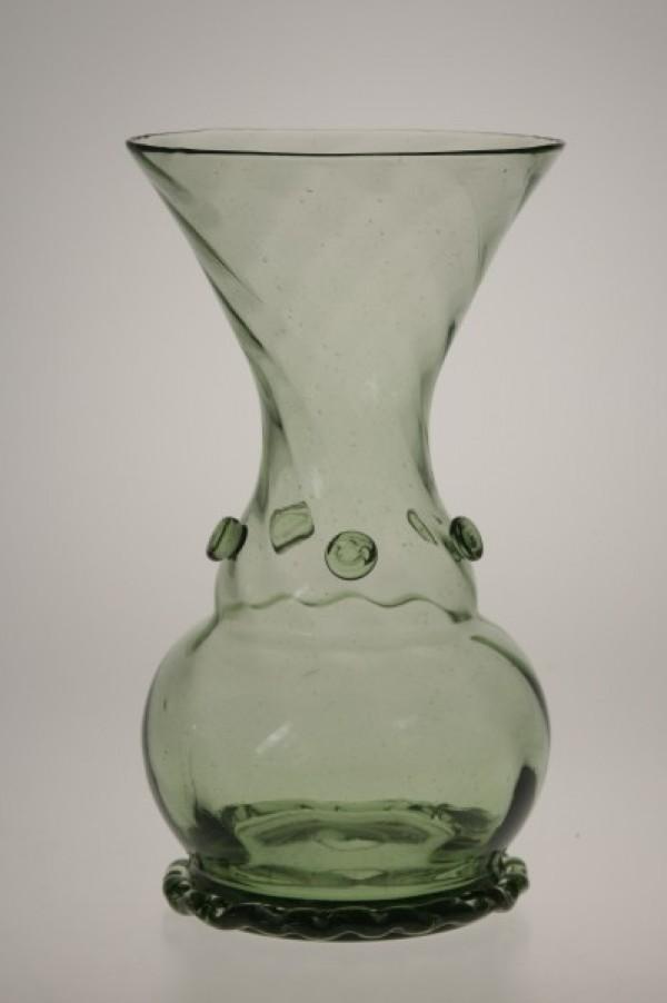 Váza s optickým dekorem - Lesní sklo