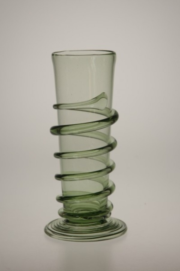 Renesanční číše se spinou malá - Lesní sklo