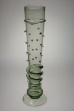 Sada gotických fléten s perličkami - Lesní sklo