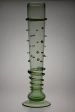 Sada fléten s dekorem a perličkami - Lesní sklo