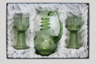 Sada karafy a dvou rovných římanů - Lesní sklo