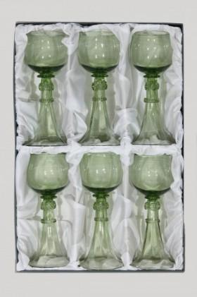Dárkové balení šesti svatebních číší - Lesní sklo