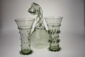 Gotický pohár s nálepy - Lesní sklo