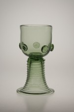 Sada džbánu a dvou rovných římanů - Lesní sklo