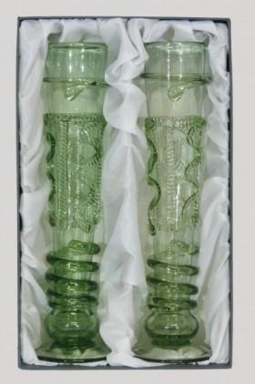 Sada gotických fléten s dekorem - Lesní sklo