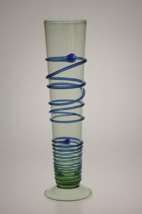 Flétna s modrou spirálou - Lesní sklo