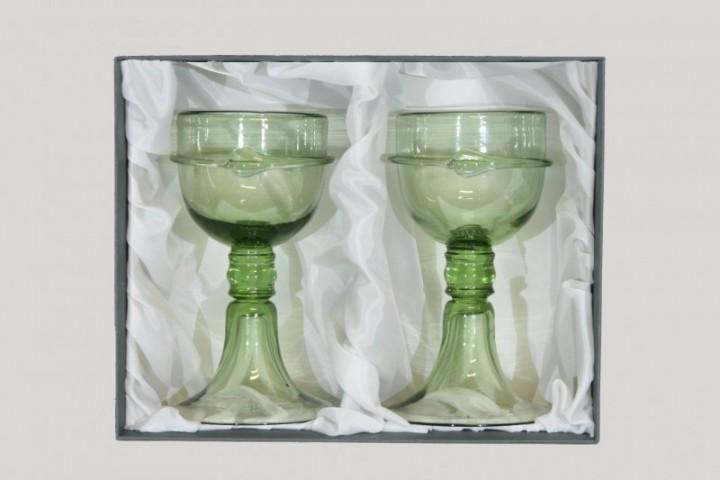 Sada číší kurtizány Veroniky Franco - Lesní sklo