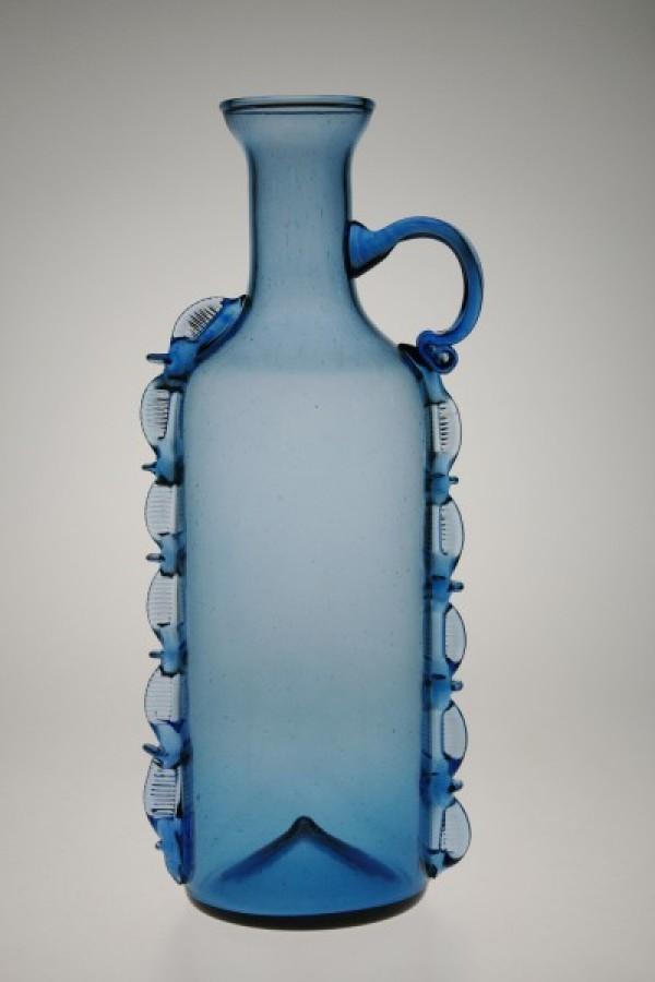 Lahvice kulatá modrá - Lesní sklo