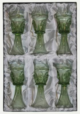 Sada šesti číší s vytahovanými nálepy - Lesní sklo