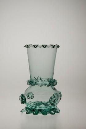 Vázička tyrkysová - Lesní sklo