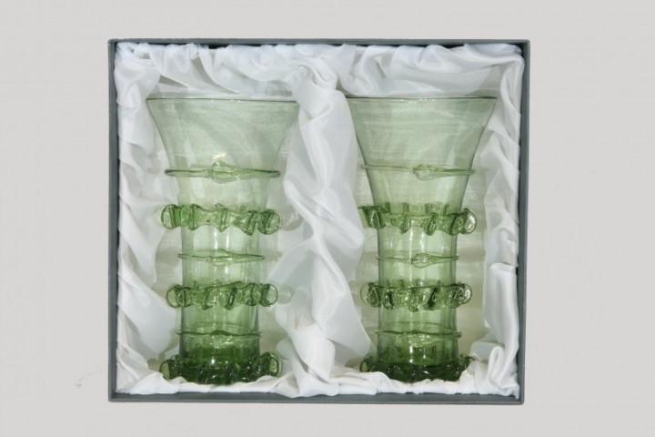 Dárkové balení dvou gotických pohárů - Lesní sklo