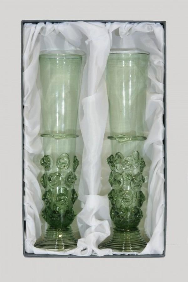 Sada gotických fléten s nálepy - Lesní sklo