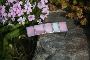 Spona malá růžová - Lesní sklo