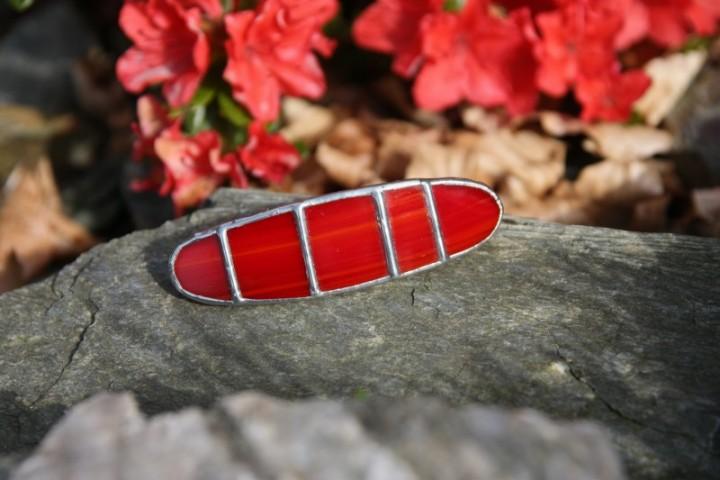 Spona malá červená - Lesní sklo