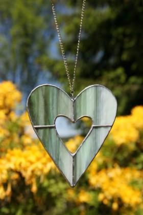 Srdce zelené menší - Lesní sklo
