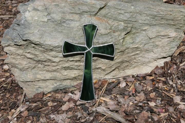 Kříž zelený - Lesní sklo
