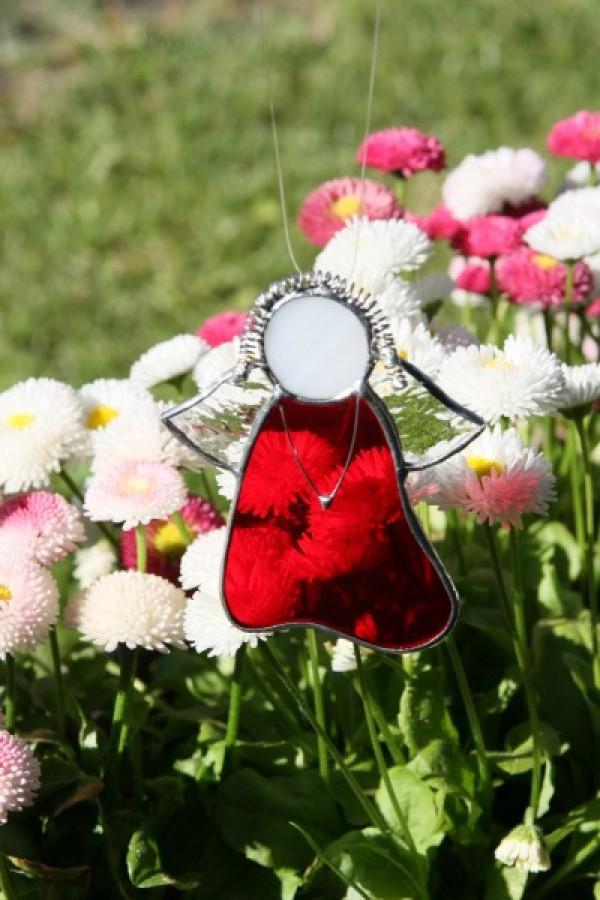 Anděl červený - Lesní sklo
