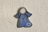 Anděl modrý srdíčkový - Lesní sklo