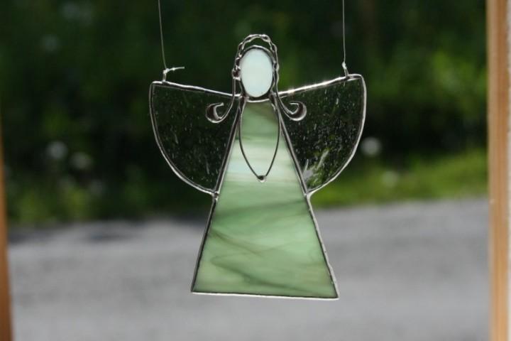 Andělka zelená copatá - Lesní sklo