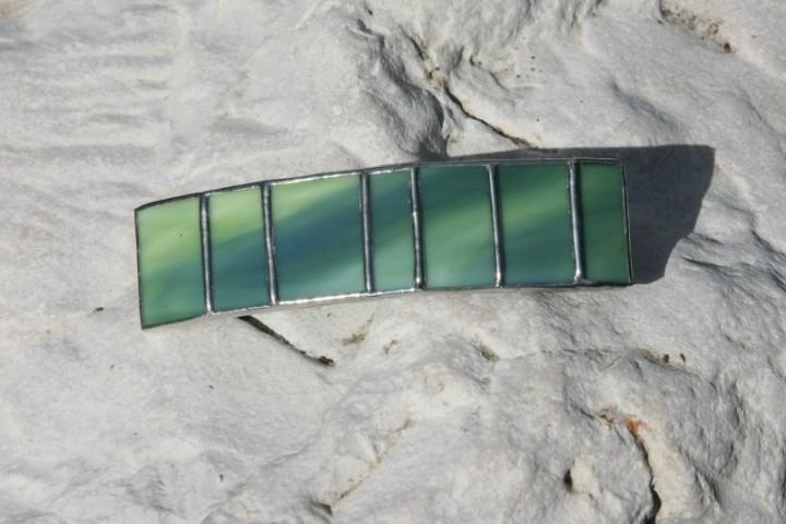 Spona zelená - Lesní sklo