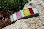 Spona barevná - Lesní sklo