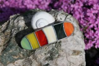 Spona barevná extra velká - Lesní sklo