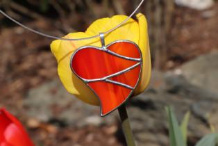 Srdce velké oranžové - Lesní sklo