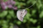 Srdíčko fialové zdobené - Lesní sklo