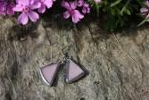 Náušnice fialové - Lesní sklo