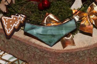 Náhrdelník velký vánoční - Lesní sklo