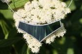 Náhrdelník velký zelený - Lesní sklo