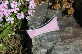 Náhrdelník růžový - Lesní sklo