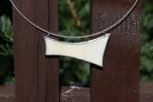 Náhrdelník béžový - Lesní sklo