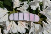 Spona růžová - Lesní sklo