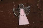 Anděl růžový malý - Lesní sklo