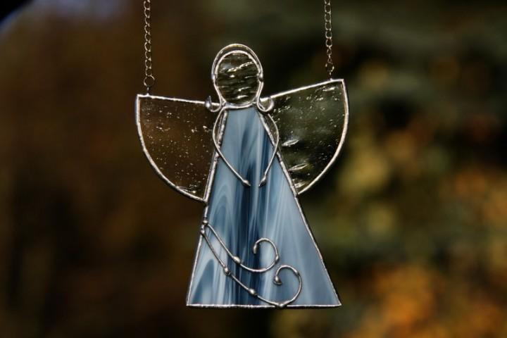 Anděl mořských vln - Lesní sklo