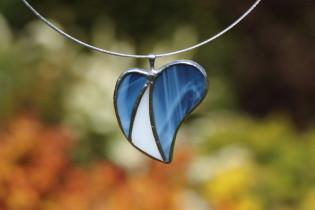 Srdíčko modro-bílé - Lesní sklo