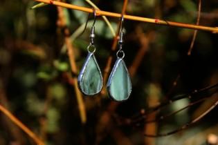 Náušnice od vodníka - Lesní sklo