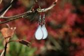Náušnice sněhové kapky - Lesní sklo