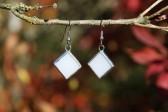 Náušnice paní Zimy - Lesní sklo