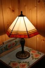 Tiffany lampa čtyřbarevná - Lesní sklo