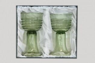 Dárkové balení dvou pohárů s rádlovou spinou - Lesní sklo