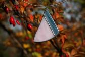 Modro - růžový šperk - Lesní sklo