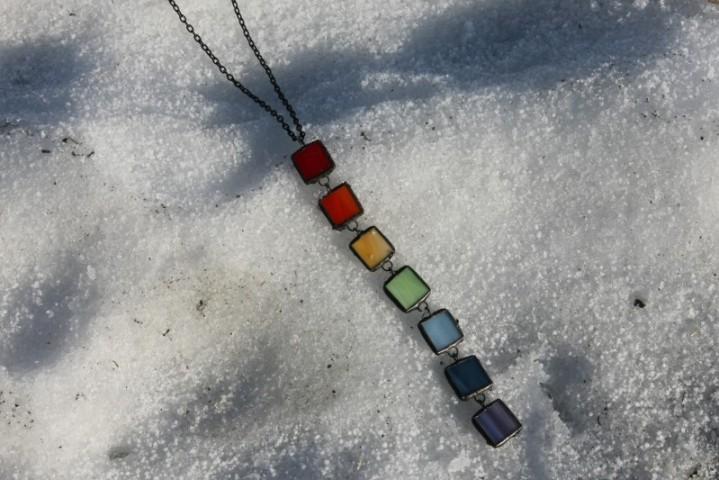 Šperk duhový - Lesní sklo