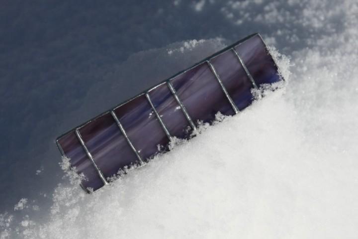 Spona fialová - Lesní sklo