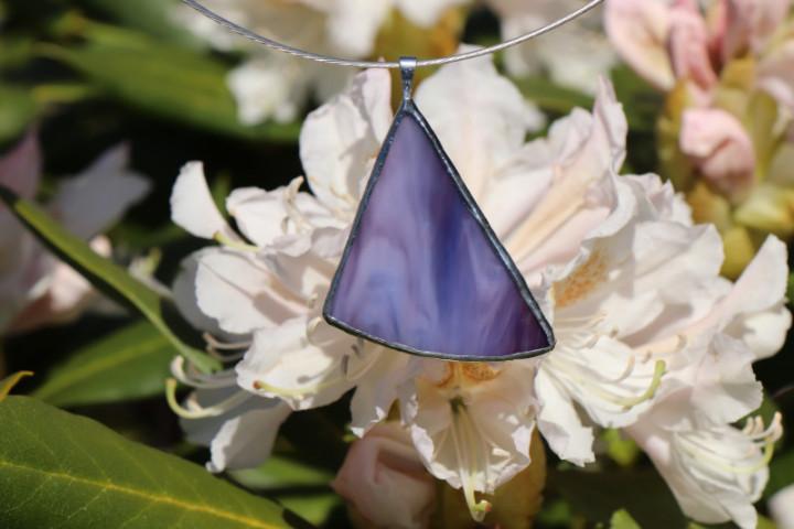 Fialový šperk - Lesní sklo